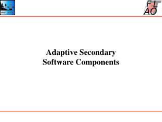 Adaptive Secondary Software Components