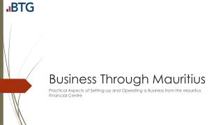 Business Through Mauritius
