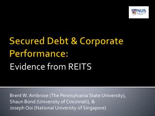 Secured Debt & Corporate Performance:
