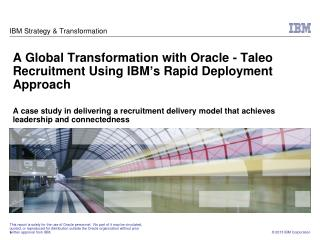 ibm s decade of transformation case study Ibms decade of transformation: turnaround to growth case analysis, ibms decade of transformation: turnaround to growth case study solution ibm's decade of.