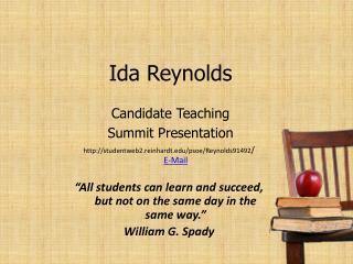 Ida Reynolds