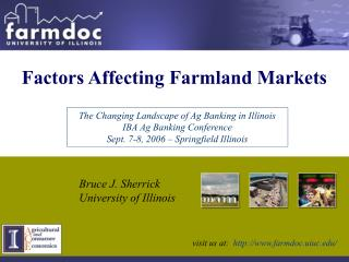 Factors Affecting Farmland Markets