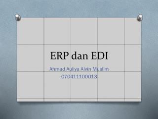 ERP  dan  EDI