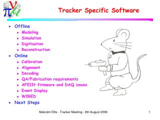 Tracker Specific Software