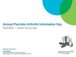 Annual Psoriatic Arthritis Information Day