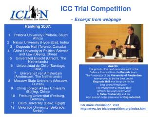 ICC Trial Competition – Excerpt from webpage
