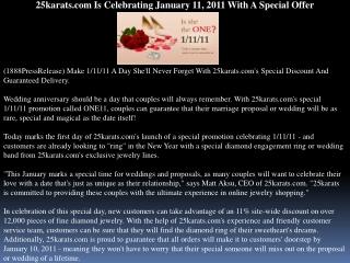 25karats.com Is Celebrating January 11