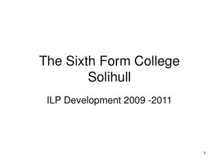 The Sixth Form College Solihull