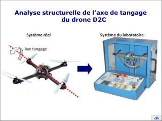 Analyse structurelle de l'axe de tangage du drone D2C