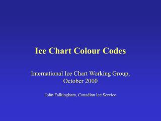 Ice Chart Colour Codes