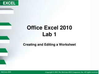 Office Excel 2010 Lab 1