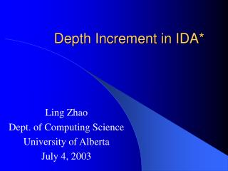 Depth Increment in IDA*