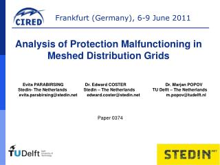 Analysis of Protection Malfunctioning in Meshed Distribution Grids