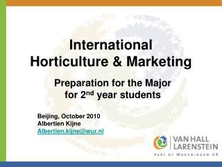 International Horticulture & Marketing