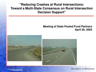 Meeting of State Pooled Fund Partners April 20, 2005