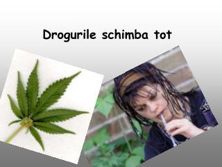 Drogurile schimba tot