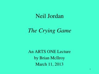 Neil Jordan The Crying Game