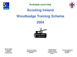 Scouting Ireland  Woodbadge Training Scheme 2004