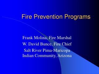 Fire Prevention Programs