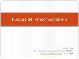 Púrpura de Henoch-Schönlein