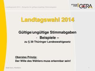 Landtagswahl 2014
