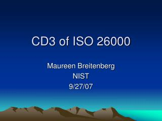 CD3 of ISO 26000