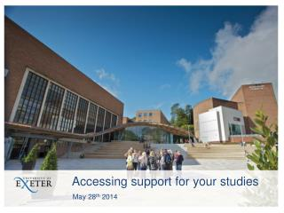 Accessing support for your studies