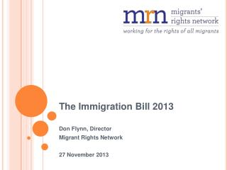 The Immigration Bill 2013