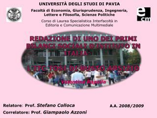 UNIVERSIT � DEGLI STUDI DI PAVIA