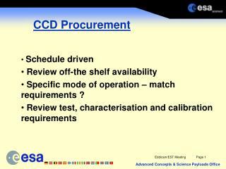 CCD Procurement