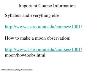 Important Course Information