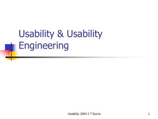 Usability  Usability Engineering