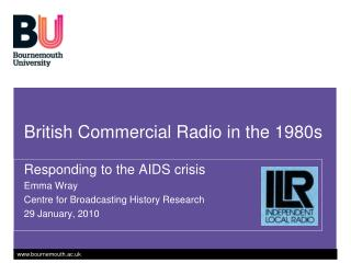 British Commercial Radio in the 1980s