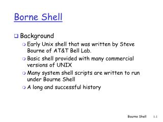 Bourne Shell
