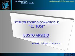 """ISTITUTO TECNICO COMMERCIALE  """"E. TOSI"""" BUSTO ARSIZIO"""