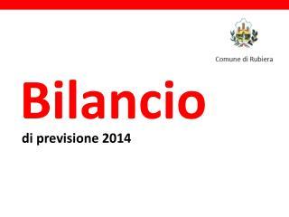di previsione 2014