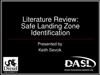 Literature Review: Safe Landing Zone Identification
