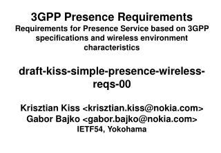 draft-kiss-simple-presence-wireless-reqs-00