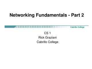 Networking Fundamentals - Part 2