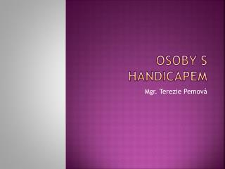 Osoby s handicapem