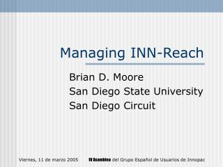Managing INN-Reach