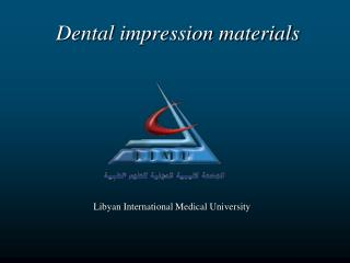 Dental impression materials