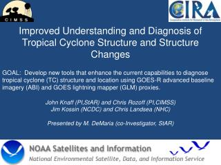 Improved Understanding and Diagnosis of Tropical Cyclone Structure and Structure Changes