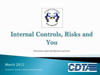 Internal Controls, Risks and You