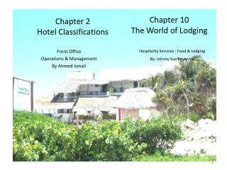 Chapter 2 Hotel Classifications