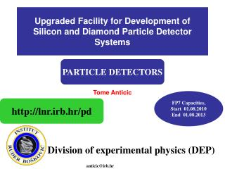 Upgraded Facility for Development of Silicon and Diamond Particle Detector Systems