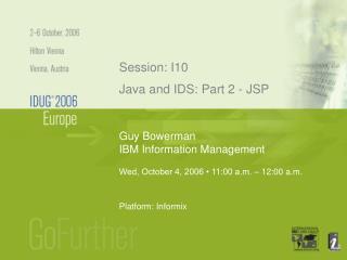 Guy Bowerman IBM Information Management