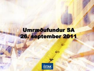 Umr��ufundur SA 26. september 2011