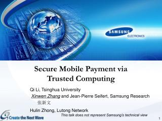 Secure Mobile Payment via  Trusted Computing