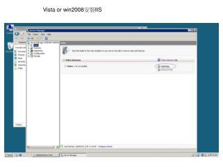 Vista or win2008 安裝 IIS